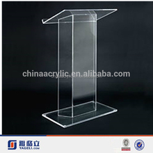 High quality SImple Custom Shaped Plexiglass Clear Acrylic Podium Pulpit Lectern Church Pulpit