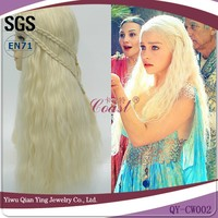 long blond A Song of Ice and Fire Daenerys Targaryen cosplay wig
