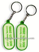 new soft pvc sponge key rings key ring plastic card holder