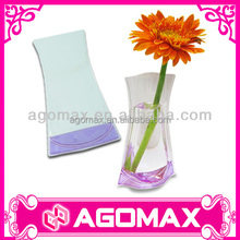 With private label reusable plastic flower vase