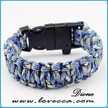 wholesael polyster cord bracelet,paracord bracelet team logo with china supplier
