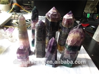 nice large size natural rainbow fluorite quartz rock crystal points gemstone points,quartz rock crystal