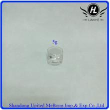5g mini milk white internal core crystal hull acrylic cosmetic jar with cap