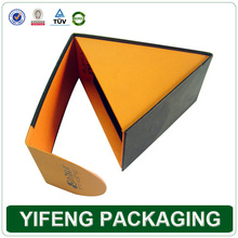 Triangle Paper Cardboard Watch Boxes Own Logo Available Wih Flipping Lid