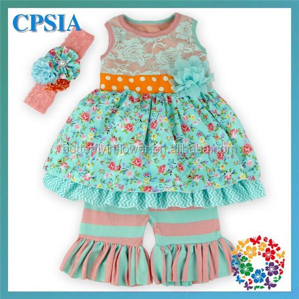 2pcs set gray flower fabric dress yellow gray striped for Childrens dress fabric