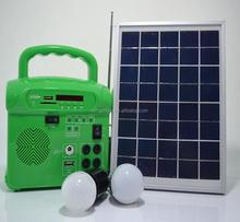 10w Solar Power System With Fm Radio For Camping/solar Power Systems 10w