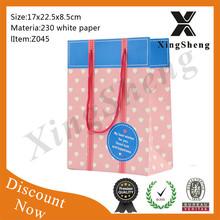 Haute qualité promotion papier cadeau sac crémation papier cercueil