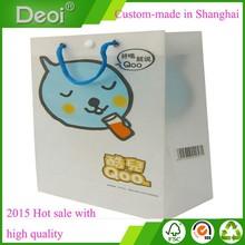 custom made fashion PP PVC PET wholesale eco-friendly designer pp plastic gift shopping handbags made in shanghai OEM factory
