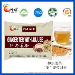 Manufacture chinese Natural Organic Flora Herbal Tea honey ginger tea, organic ginger tea