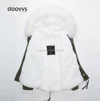 White short rabbit fur collar fur coat, high quality russian fake fur liner warm coat ,white fur collar ladies cape coatWhite sh