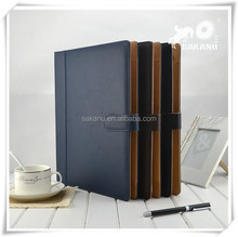 Customize A4 PU faux leather magnetic business portfolios file folder