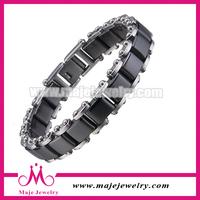 Fashion black ceramic bike jewelry in dubai infinity bracelet