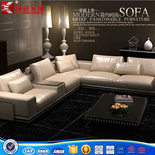 modern italian leather sectional sofa with stainless steel frame