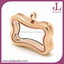 China Wholesale Charm Locket Gold Plated Jewelry Stainless Steel Pendant