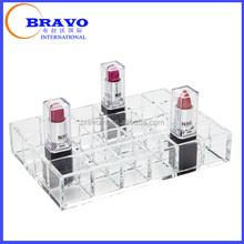 Desktop 24 Acrylic Lipstick Organizer, Organic glass lipstick holder