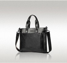 Famous French Brand Hautton Black Leather Shoulder Bag Fashion Men's Handbag
