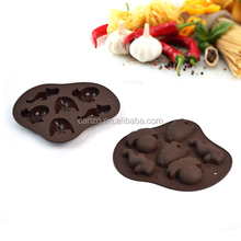 6 cavity different animals shaped chocolate molds ice tray silicone cake molds