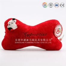 China ICTI factory popular style bone shape car seat neck cushion