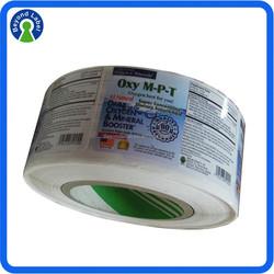Waterproof Vinyl Printing Full Color Adhesive Bottle Packaging Vial Label