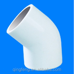 "White 1-1/4"" PVC Pipe Fitting 45 Degree Elbow,CPVC Elbow For Industry Usage"