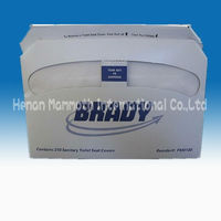 Paper toilet seat cover flushable