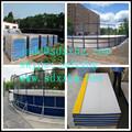 Fuerte estructura de la pista de hielo venta, fabricante HDPE floorball pista barreras