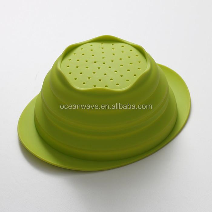 Nouveau produit cuisine gadgets pliable silicone filtre