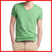 Plain blank vneck cotton tshirt