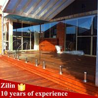 high quality outdoor frameless glass railing/exterior hand railings