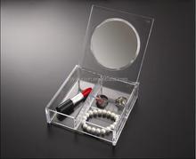 transparent plastic powder box with different case
