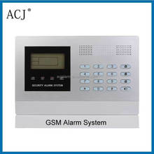 GSM wired and wireless home burglar security alarm system