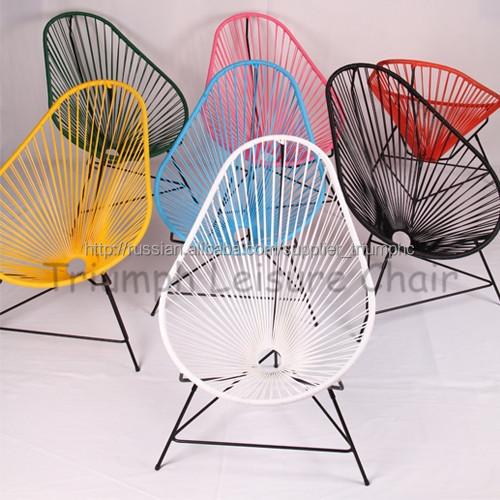 blanc m tal basse corde en plastique chaise de plage pour salon de jardin chaise de camping id. Black Bedroom Furniture Sets. Home Design Ideas