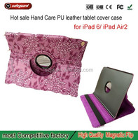 360 degree rotation leather case flip cover for Apple air shockproof tablet case for ipad air2