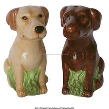 Ceramic Salt & Pepper Set Labrador Dog