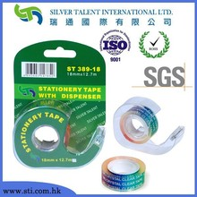 strong adhesive super clear tape with single side dispenser for gift wrapping