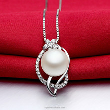 AAA fresh water pearls 925 sterling silver necklace pendant 2015 new desgin Pendants & Charms