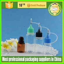 15ml blue PET needle tip dropper bottles for Smoke oil made in China