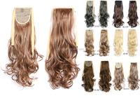 Synthetic Drawstring Ponytail Hair , Elastic Band Synthetic Hair Ponytail natural Hair Extensions