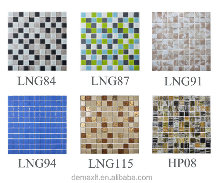 Top quality glass and resin ceramic mosaic mixed strips mosaic