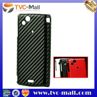 For Sony Ericsson X12 XPERIA Arc Hard Plastic Case with Carbon Fiber Skin