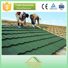 aluminum and zinc galvanized steel stone coated roof tile