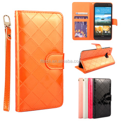 Trade Assurance Wholesale Wallet style mobile phone case for HTC one M9 with two card slots