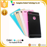 new aluminium metal bumper back case cover for huawei p8 lite