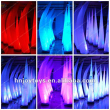 Inflatable illuminated cone & column, party decoration inflatable cone with led light