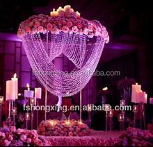 FS37 wedding centerpiece artificial flower ,tall acrylic flower stand centerpiece