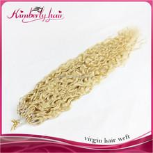 Kimberlyhair Alibaba China Supplier Virgin Brazilian Remy Hair Double Beads Micro Braid Ring Loop Links Hair Extensions
