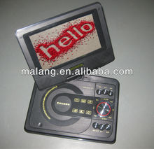 7 inch wide screen portable dvd player 2014 Top sale