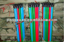Eucalyp wood broom stick cover with plastic