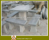 garden furniture granite table and benches