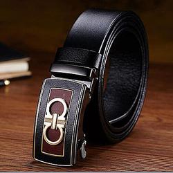 Men stripe metal buckle genuine leather belt men fashion metal belts LB3524